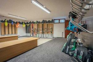 Ski and cycling room